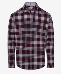 Brax Duke Check Overhemd Donker Rood