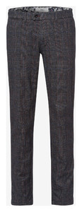 Brax Fey Check Wool Look Broek Antraciet