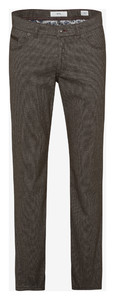Brax Fey Check Wool Look Broek Nut