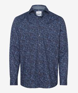 Brax Harold Fantasy Hi-Flex Overhemd Blauw