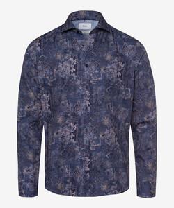 Brax Harold Fantasy Pattern Shirt Navy