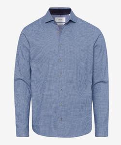Brax Harold Fine Pattern Elbow Patch Shirt Navy