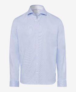 Brax Harold Overhemd Blauw Melange