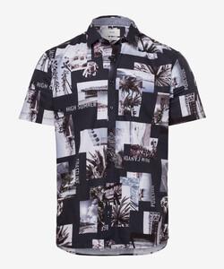 Brax Kris Fantasy Overhemd Navy