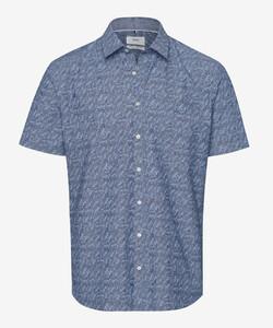 Brax Kris Leaf Pattern Overhemd Blauw