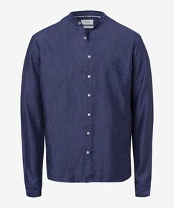 Brax Lars Linen Shirt Navy