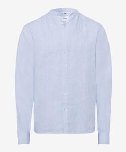 Brax Lars Linnen Overhemd Blauw