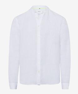 Brax Lars Linnen Overhemd Wit
