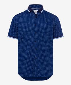 Brax Luke Kort Mouw Overhemd Navy