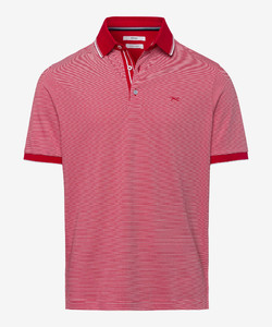 Brax Paco Fine Stripe Polo Chili