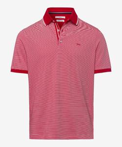 Brax Paco Fine Stripe Poloshirt Chili