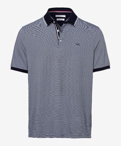 Brax Paco Fine Stripe Poloshirt Ocean