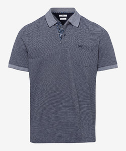 Brax Paddy Fine Structure Piqué Polo Navy