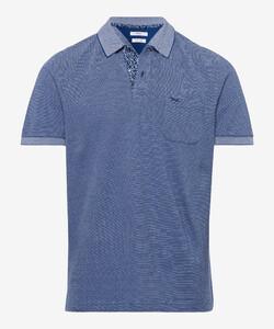 Brax Paddy Fine Structure Piqué Poloshirt Azure
