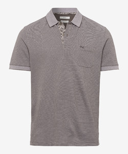 Brax Paddy Fine Structure Piqué Poloshirt Khaki