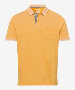 Brax Paddy Fine Structure Piqué Poloshirt Yellow