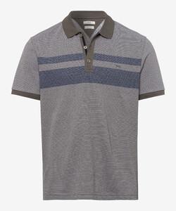 Brax Parker Duo Stripe Poloshirt Khaki