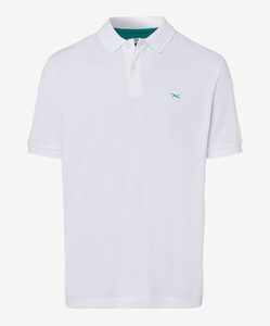 Brax Pete Pique Pima Cotton Polo Wit