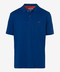 Brax Pete Pique Pima Cotton Poloshirt Blue