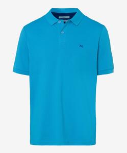 Brax Pete Pique Pima Cotton Poloshirt Water