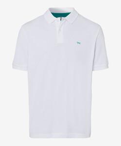 Brax Pete Pique Pima Cotton Poloshirt White