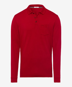 Brax Philip Pima Cotton Polo Crimson Red