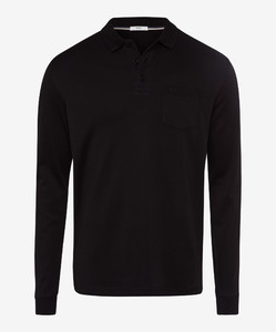 Brax Philip Pima Cotton Poloshirt Black