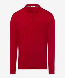 Brax Philip Pima Cotton Poloshirt Crimson Red