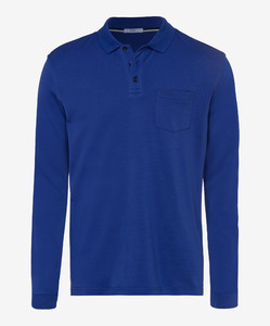 Brax Philip Pima Cotton Poloshirt Royal