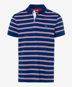 Brax Piero Pima Cotton Piqué Polo Blauw