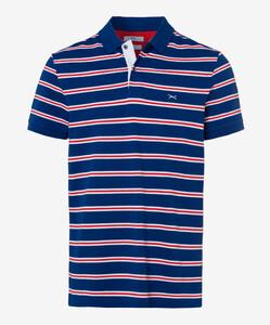 Brax Piero Pima Cotton Piqué Poloshirt Blue