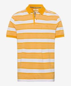 Brax Piero Polo Sportive Stripe Poloshirt Honey Gold