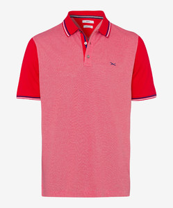 Brax Piet Two Tone Look Polo Rood
