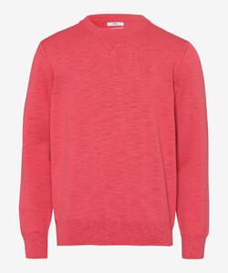 Brax Rick Garment Dye Slub Yarn Pullover Iced Red