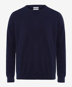 Brax Rick Garment Dye Slub Yarn Pullover Ocean