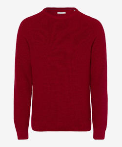 Brax Rob Cotton Pullover Crimson Red
