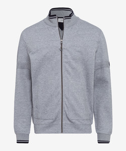 Brax Scott Sweat Uni Styling Detail Cardigan Grey