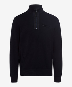 Brax Sion Uni Contrast Pullover Navy