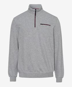 Brax Sion Uni Sweat Detail Contrast Pullover Platinum