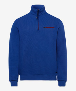 Brax Sion Uni Sweat Detail Contrast Pullover Royal