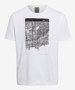 Brax Taylor BRX LAB Shirt T-Shirt Wit