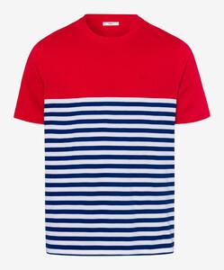 Brax Terry T-Shirt Rood