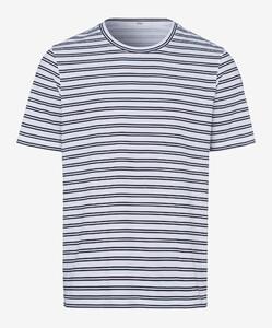 Brax Troy Striped Shirt T-Shirt Dark Navy