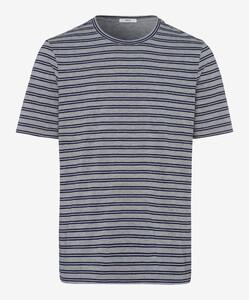 Brax Troy Striped Shirt T-Shirt Ocean