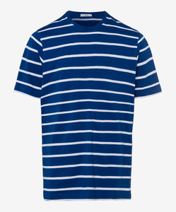 Brax Troy Striped T-Shirt T-Shirt Blue