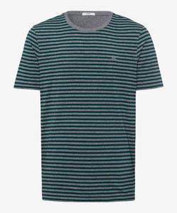 Brax Troy Striped T-Shirt T-Shirt Green
