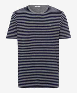 Brax Troy Striped T-Shirt T-Shirt Ocean