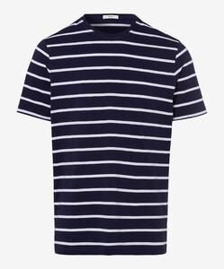 Brax Troy Striped T-Shirt T-Shirt Ocean
