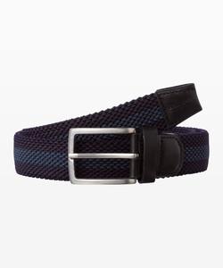 Brax Woven Stripe Belt Belt Navy-Grey