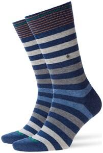 Burlington Blackpool Sokken Donker Blauw Melange